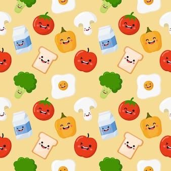 Ontbijt naadloos patroon