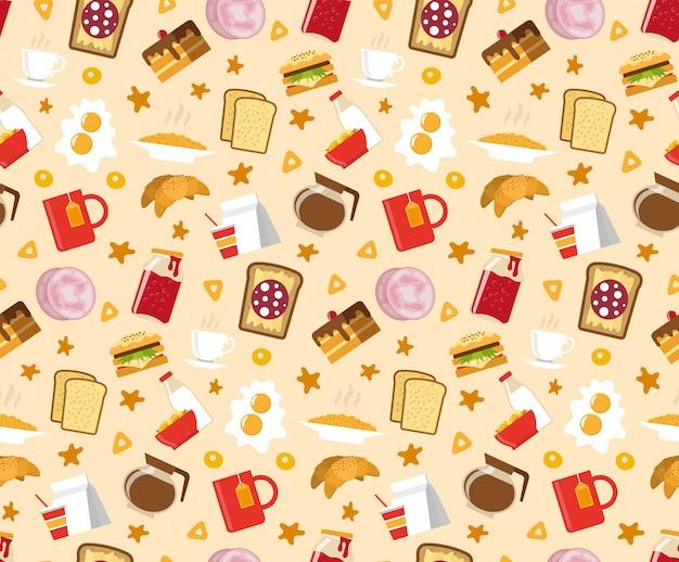 Ontbijt naadloze patroon