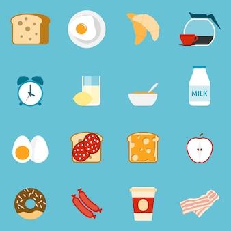 Ontbijt pictogrammen instellen