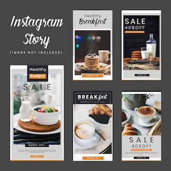 Ontbijt social media stories pack