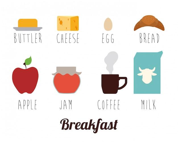Ontbijten.