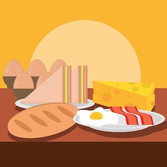 Ontbijtmenu eten q