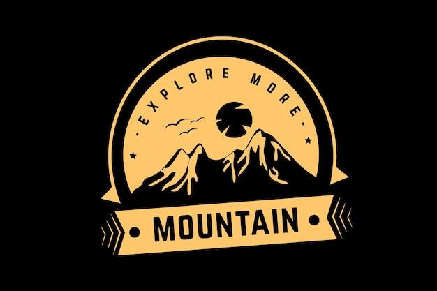 Ontdek meer bergkleur lichtgeel