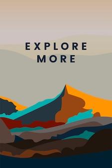 Ontdek meer ontwerp van het berglandschap
