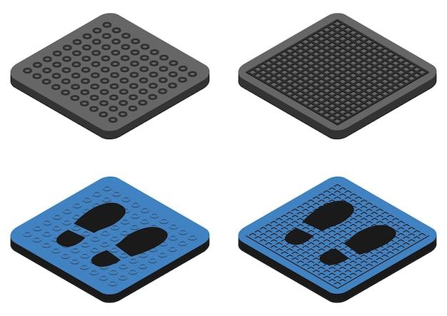 Ontsmettingsmatten antibacteriële instapmatten in kleur desinfecterende tapijten voor schoenen