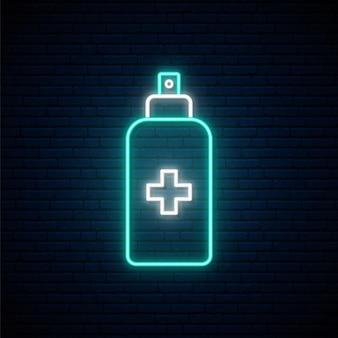 Ontsmettingsspray neonreclame