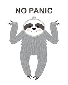 Ontspannen luiheid. illustratie. een grappige, schattige poster