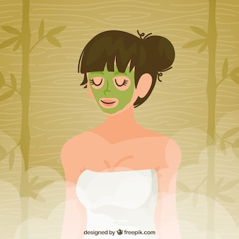 Ontspannen vrouw in een spa
