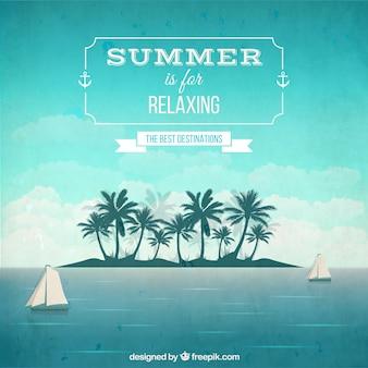 Ontspannende zomer achtergrond
