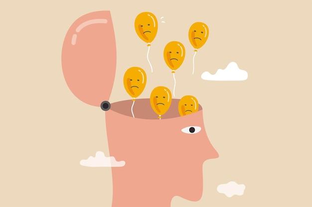 Ontspanning om angst en negatieve gedachten weg te laten vliegen