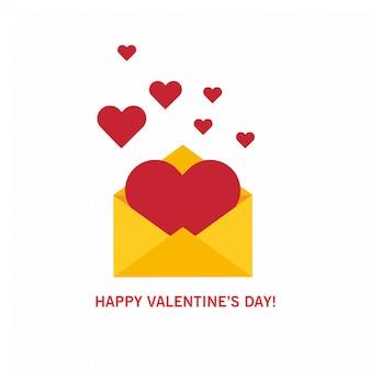 Ontvangen of verzenden van liefde e-mails en sms voor valentijnsdag