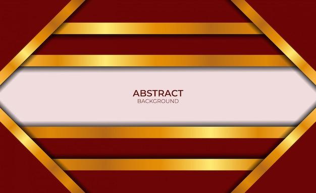 Ontwerp abstracte rode en gouden achtergrond