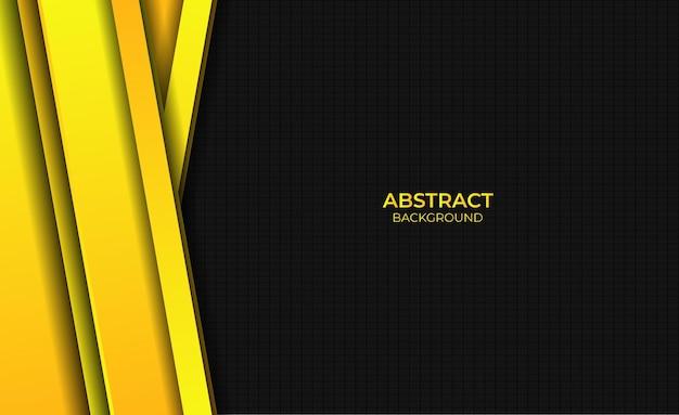 Ontwerp abstracte stijl gradiënt gele heldere achtergrond