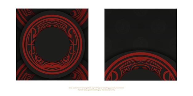 Ontwerp achtergrond met luxe ornamenten. zwarte ansichtkaart met maori vintage ornamenten en plaats voor uw logo en tekst.