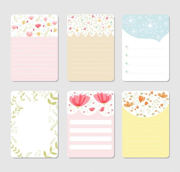 Ontwerp achtergrond voor notebook set
