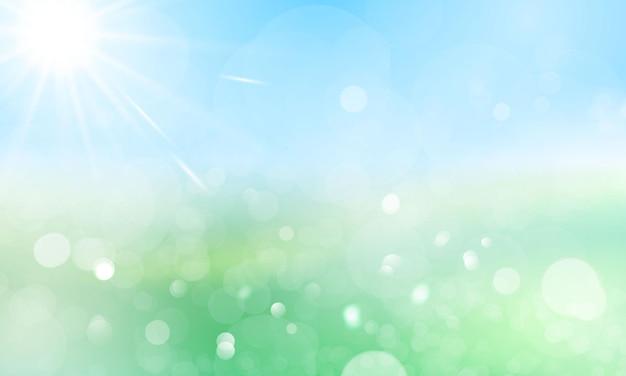 Ontwerp banner lente zomer water achtergrond met mooi