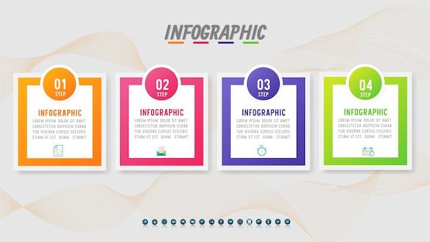 Ontwerp business sjabloon infographic grafiekelement.