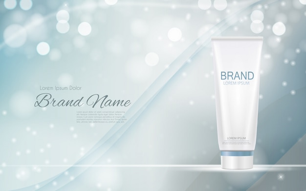 Ontwerp cosmetica product 3d realistische illustratie