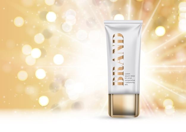 Ontwerp cosmetica product sjabloon achtergrond. realistisch 3d