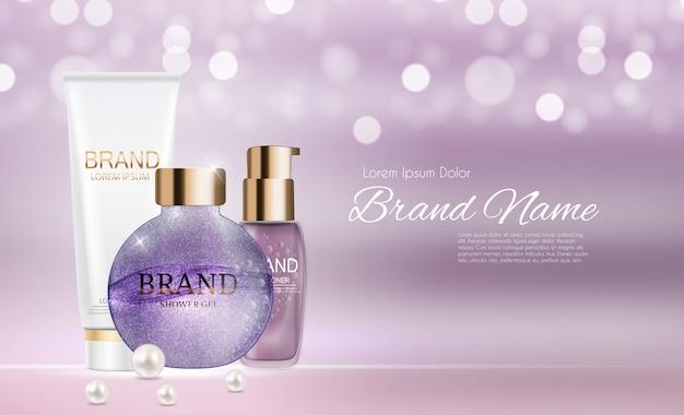 Ontwerp cosmetica product verpakking sjabloon