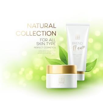Ontwerp cosmetica productreclame.