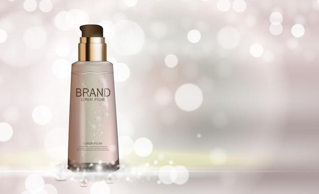 Ontwerp cosmetica productsjabloon