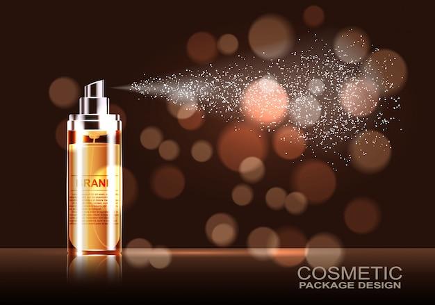 Ontwerp cosmetica reclame product sjabloon, leeg, voor uw ontwerp.