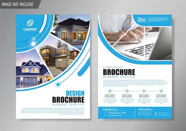 Ontwerp cover flyer en brochure zakelijke sjabloon voor jaarverslag