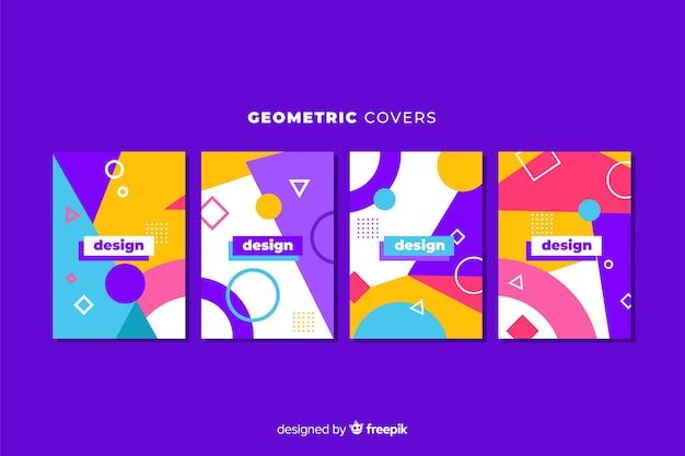 Ontwerp covers in geometrische stijl