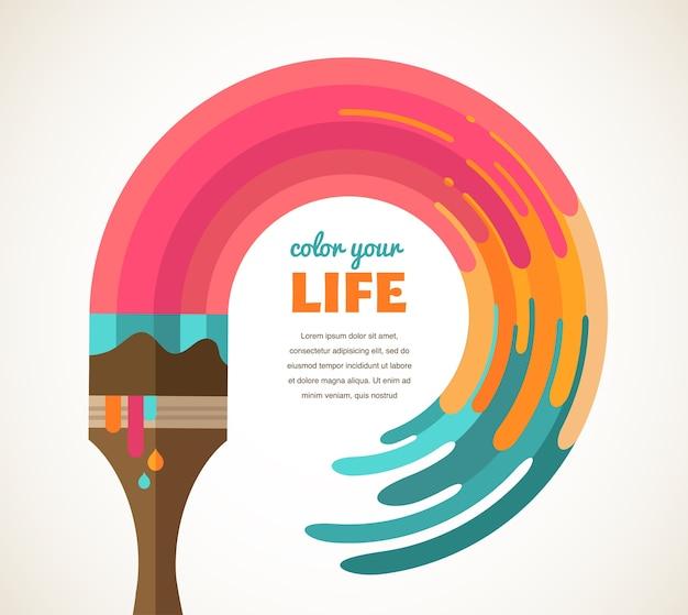 Ontwerp, creatief, idee en kleur concept illustratie