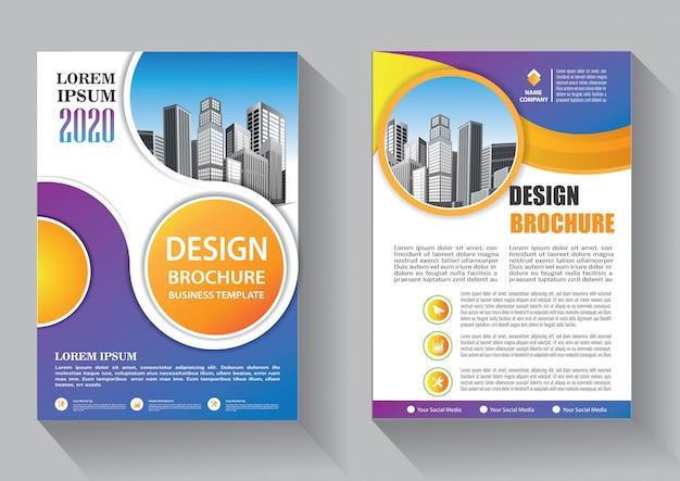 Ontwerp dekking flyer bedrijf sjabloon voor brochure en jaarverslag