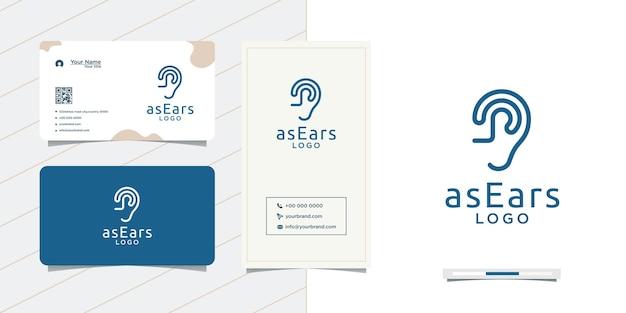 Ontwerp eenvoudige ontwerpen voor oortoestellen en visitekaartjes