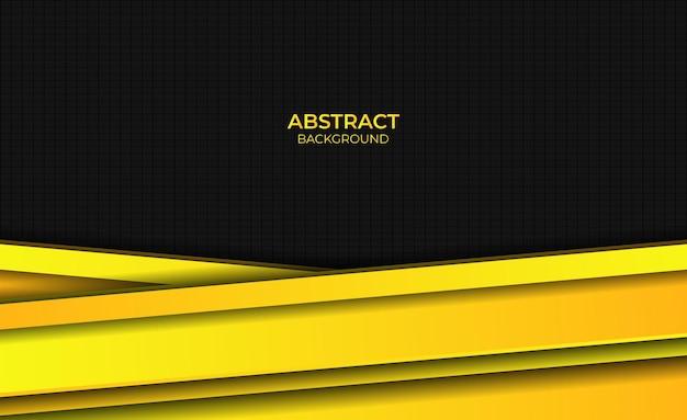 Ontwerp gele gradiënt heldere abstracte achtergrondstijl