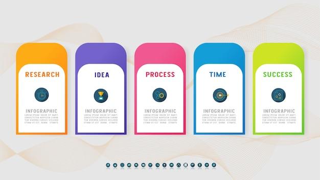 Ontwerp infographic grafiekelement voor presentaties.