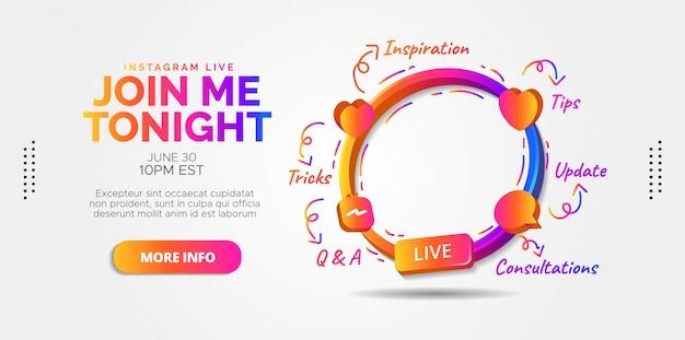 Ontwerp instagram live streaming voor je instagram-promoties