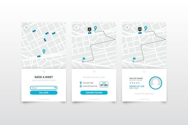 Ontwerp interface taxi-applicatie