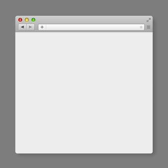 Ontwerp internetbrowsersjabloon. windows frame zoeken, webpagina. vector illustratie.