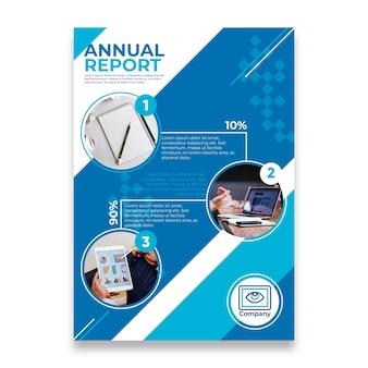 Ontwerp jaarverslag met digitale apparaten