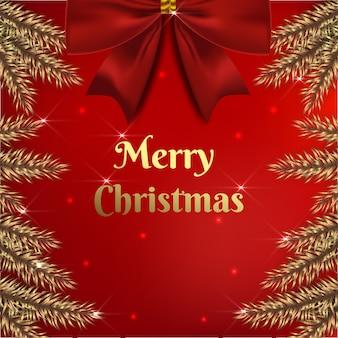 Ontwerp kerstmis met decoratie in bladgoud
