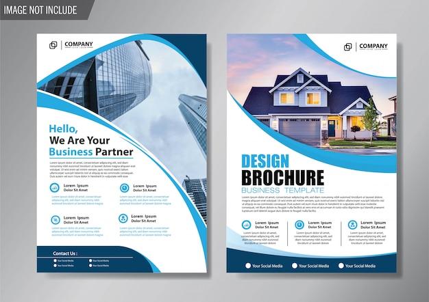 Ontwerp lay-out cover flyer en brochure zakelijke sjabloon voor achtergrond jaarverslag