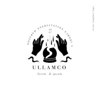 Ontwerp lineaire sjabloon logo of embleem