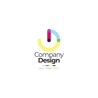 Ontwerp logo redactionele sjabloon