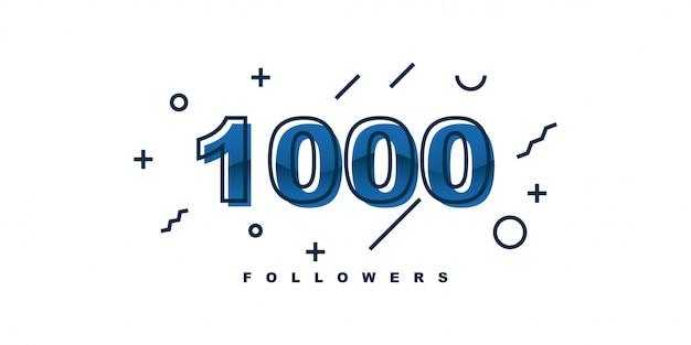 Ontwerp met 1000 volgers