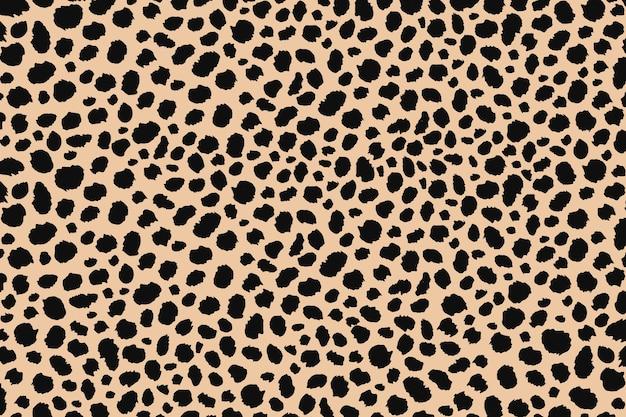Ontwerp met abstracte stippen dierenprint. luipaard print naadloze patroon. cheetah huid achtergrond.