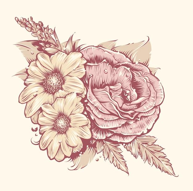 Ontwerp met bloemen