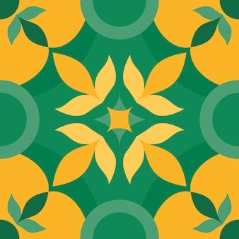 Ontwerp met groene tegels
