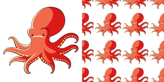 Ontwerp met naadloze patroon octopus