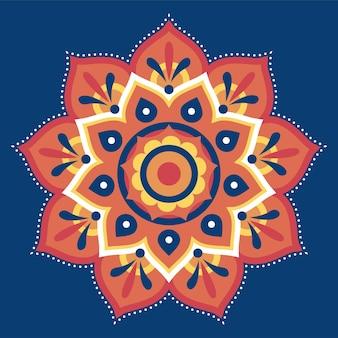 Ontwerp met plat rangoli-patroon