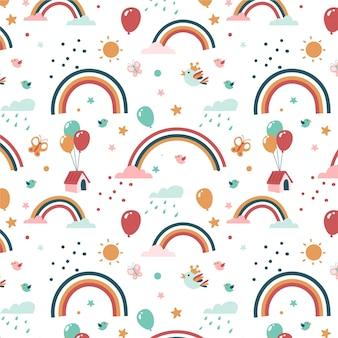 Ontwerp met regenboogpatroon