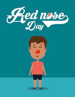 Ontwerp met rode neus dag